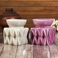 """Аромалампа керамика """"Грани. Куб"""" МИКС 9х7,5х7,5 см, фото 1"""