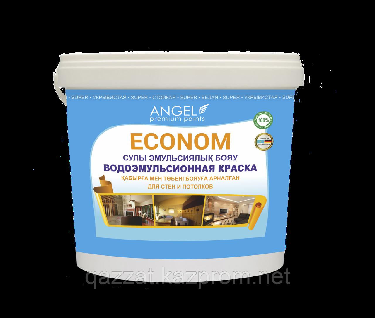 """Водоэмульсионная краска  """"Angel"""" Econom 4 кг"""