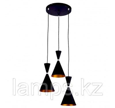 Люстра подвесная SL024-3 E27 60W BLACK, фото 2