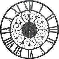 Кованые металлические большие настенные часы Mosalt 1054