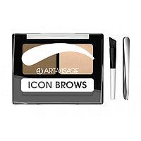 ART-VISAGE Двойные тени для бровей ICON BROWS 421