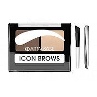 ART-VISAGE Двойные тени для бровей ICON BROWS 422