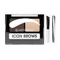 ART-VISAGE Двойные тени для бровей ICON BROWS 423