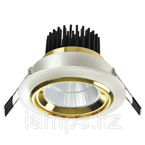 Спот встраиваемый светодиодный LED OC005 5W White Gold , фото 2