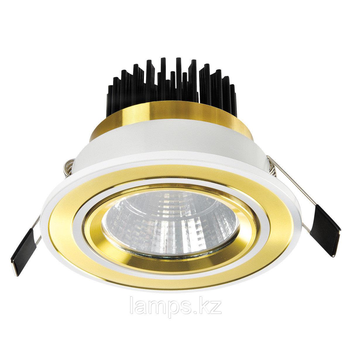 Спот встраиваемый светодиодный LED OC012 5W White Gold