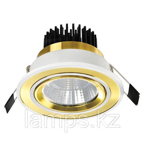 Спот встраиваемый светодиодный LED OC012 5W White Gold , фото 2