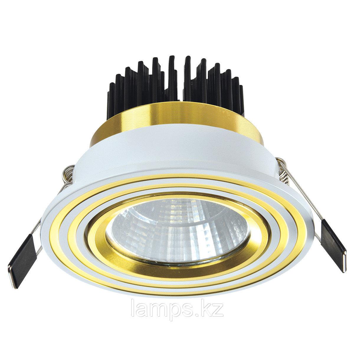 Спот встраиваемый светодиодный LED OC011 5W White Gold