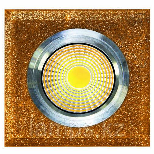 Спот встраиваемый светодиодный LED QX Gold Квадрат