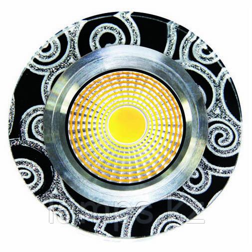 Спот встраиваемый светодиодный LED SPD-YXYHD Квадрат White Black