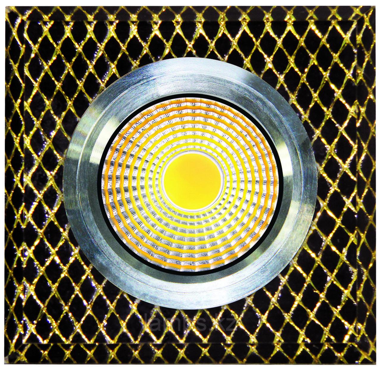Спот встраиваемый светодиодный LED QX8-W255 Квадрат Gold