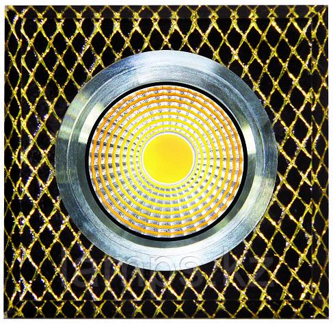 Спот встраиваемый светодиодный LED QX8-W255 Квадрат Gold , фото 2