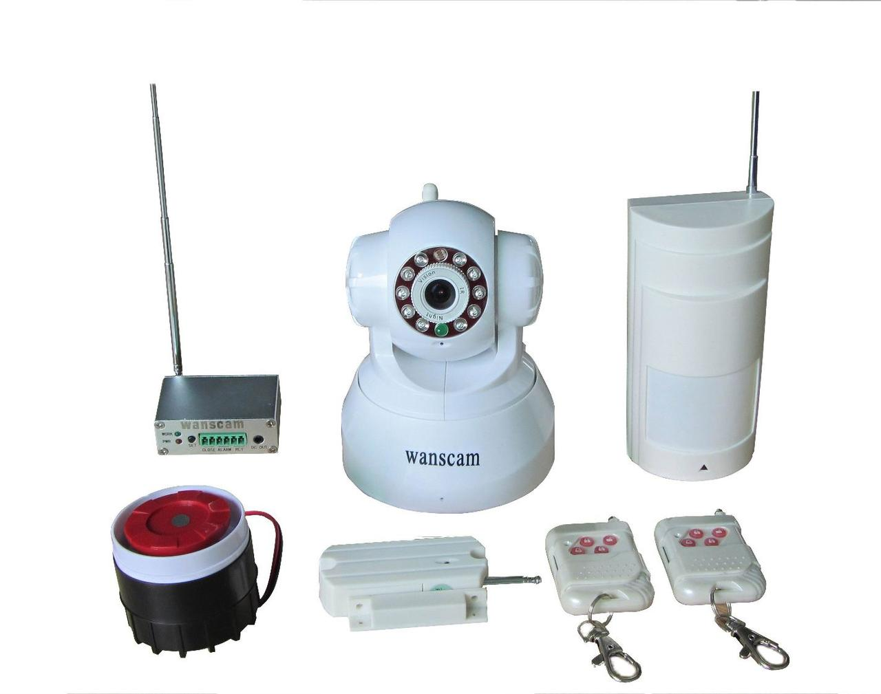 WIPA-118 IP камера + беспроводная система безопасности