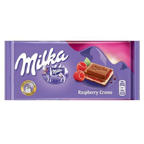 Milka Raspberry Cream (100 грамм) (22 шт. в упаковке)