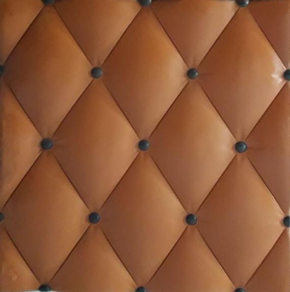3D панель кожа оранжевая