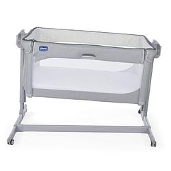 Chicco: Кроватка-манеж Next2Me Magic Cool Grey 0м+