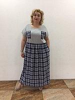 Единичное платье летнее штапель 50-58 размер