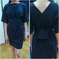 Оригинальное летнее платье с запахом на спине