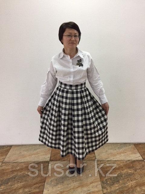 Эксклюзивная юбка хлопок/шерсть 42-44 размер