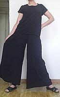 Юбка-брюки летние черные
