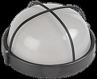 Светильник НПП 1308-60 черный/круг решетка крупная IP54