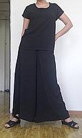 Черная блузка свободная