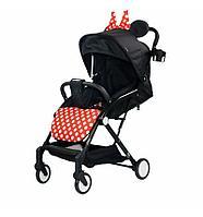 Прогулочная коляска Indigo Mary черный с бантом