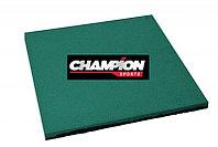 Резиновая плитка горячего прессования, 50смХ50см, 16 mm Зеленый