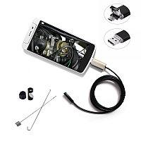 Камера эндоскоп бароскоп для смартфона, компьютера (USB), с подсветкой, фото 1