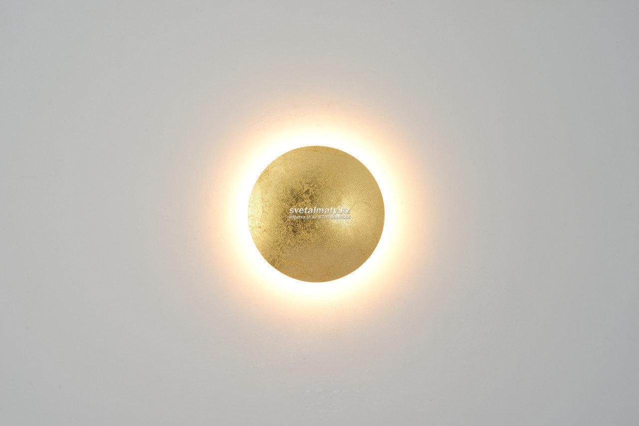 Настенный светодиодный светильник Круглый золотой 12W