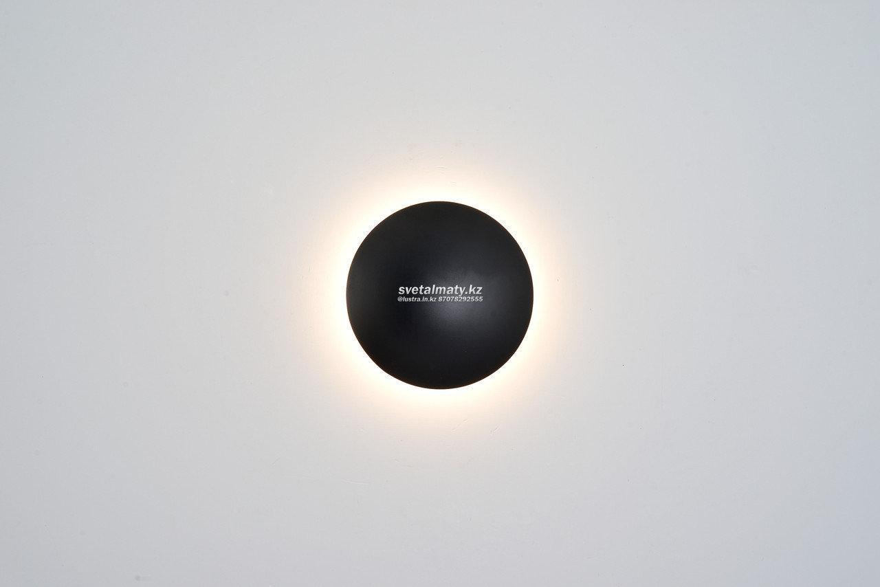 Настенный светодиодный светильник Круглый черный 12W
