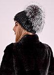 Роскошная меховая шапка с объемным колпаком из чернобурки, купить в Казахстане, фото 3