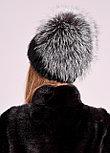 Роскошная меховая шапка с объемным колпаком из чернобурки, купить в Казахстане, фото 5