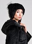 Женская меховая шапка из кролика с декоративным хвостиком, фото 2