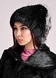 Женская меховая шапка из кролика с декоративным хвостиком, фото 4