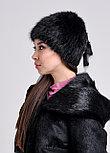 Женская шапка из натурального меха ондатры | натуральный мех, фото 2