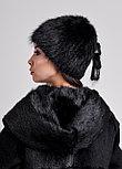 Женская шапка из натурального меха ондатры | натуральный мех, фото 3