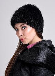 Женская шапка из натурального меха ондатры   натуральный мех