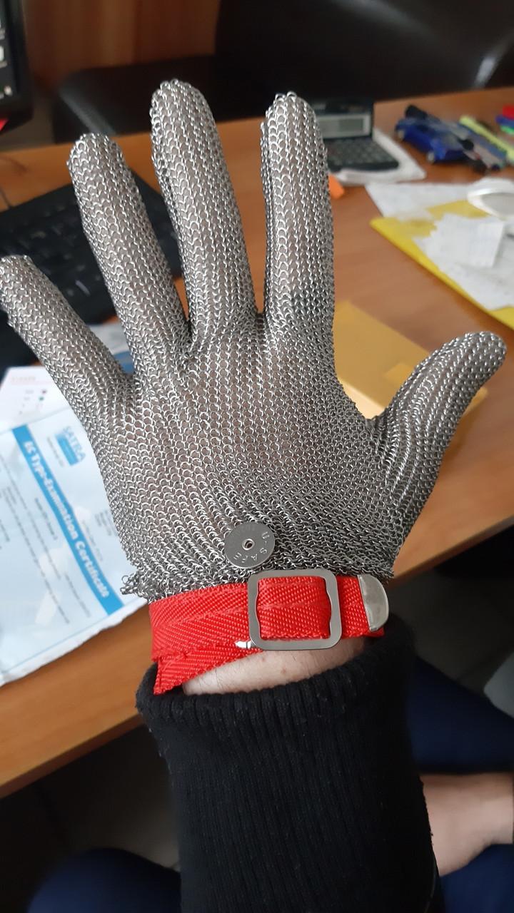 Перчатка кольчужная пятипалая