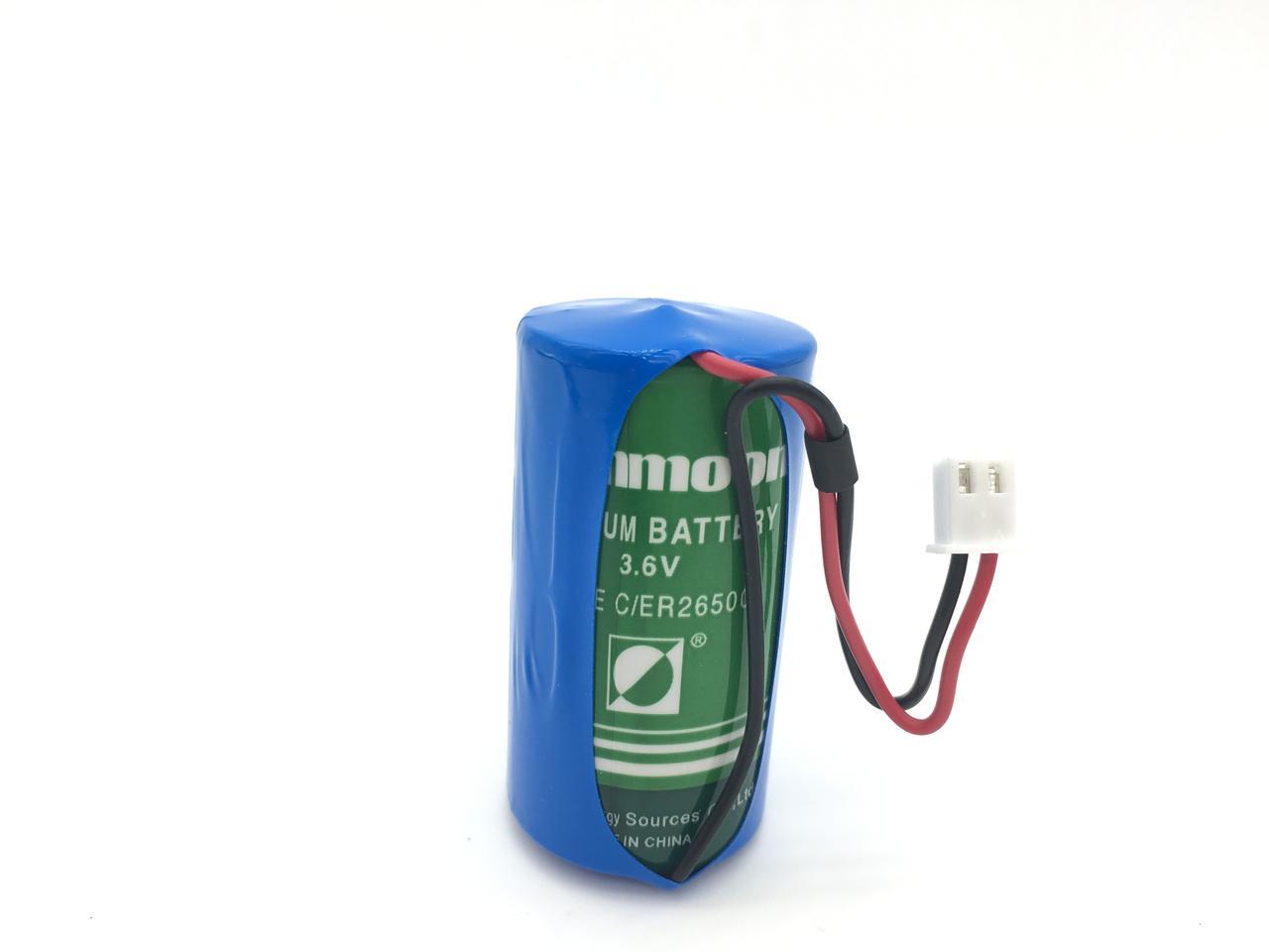 Батарейка 3.6v  ER26500 SUNMOON  C size 8500mAh 26x50mm c коннектором