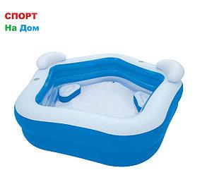 Надувной бассейн BestWay 54153 (Габариты: 213 х 206 х 69см, на 575 литров ) , фото 2