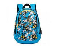 Рюкзак повседневный для девочки Пчелы голубой