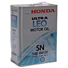 Моторное масло HONDA ULTRA LEO SN 0W-20 4L