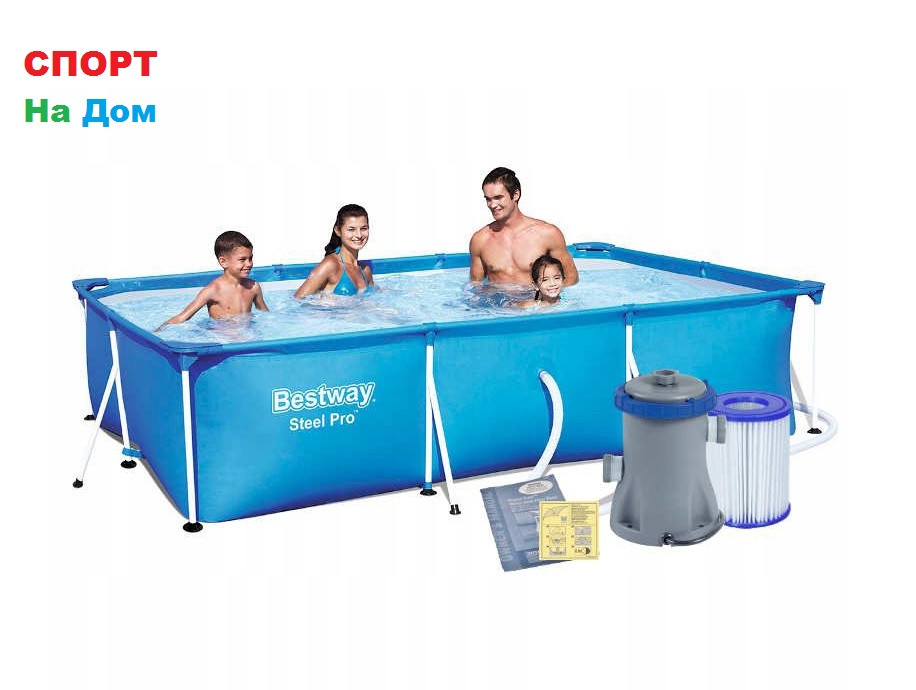 Каркасный бассейн BestWay 56411 (300 х 201 х 66 см, на 3300 литров )