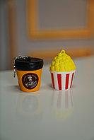 Сквиши squishy, Кофе размер 6*4 см / Попкорн размер 5*5 см
