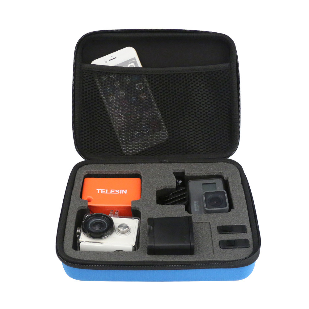 Средняя сумка для экшн-камер TELESIN-210 Черная/Синяя