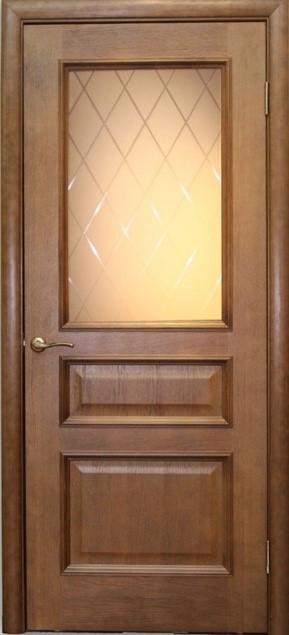 Дверь Вельми 2 дуб тон 44 со стеклом