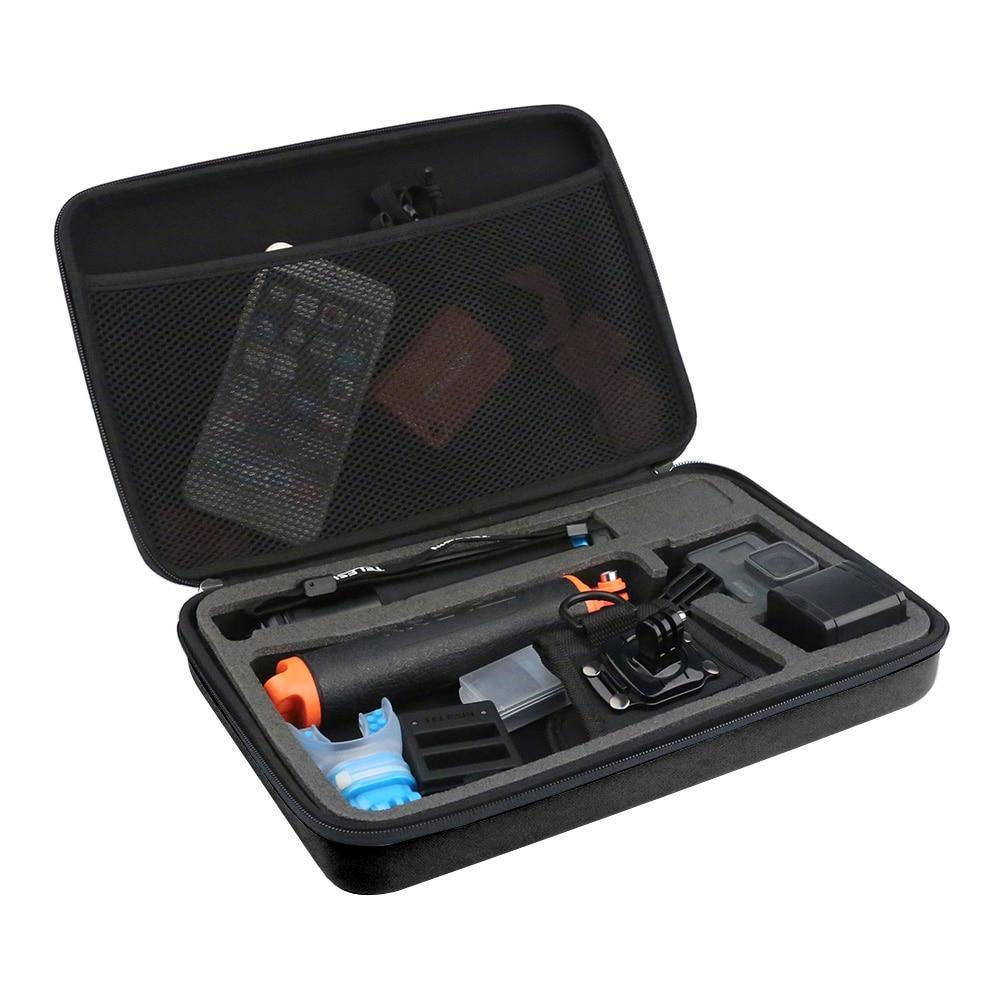 Большая сумка для экшн-камер TELESIN-310 Черная/Синяя