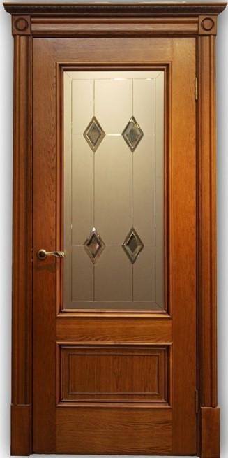 Дверь Йорк медовый дуб со стеклом