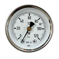 Термометр поверенный ТБП63/100/Т-(0-120)С штуцер 100 мм