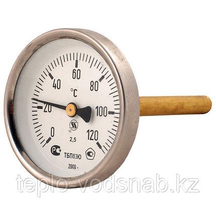 Термометр поверенный ТБП63/100/Т-(0-120)С штуцер 100 мм, фото 2